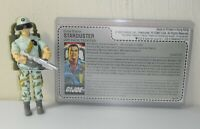 CUSTOM Black Major 1987 GI Joe Starduster v1B Figure Complete w/ Uncut File Card
