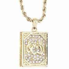 Iced Out Bling Fashion Rope Chaîne - Allah Coran gold
