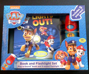 PAW PATROL GIFTS BOOK &TORCH MINI TORCH CHOCOLATE