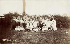 Wyboston near St Neots. Group in Field.