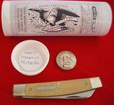 """Great Eastern Cutlery Tidioute """"Speaker Jack"""" Pocket Knife Muslin Micarta"""