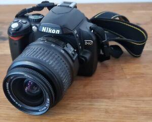 Nikon D D40 6.1MP Digital SLR Camera with  18-55mm Lens - Black (inc Carry Case)