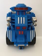 Vintage 1984 Marchon Inc Blue Robot Friction Toy w/ Motorized Wheels - Rare