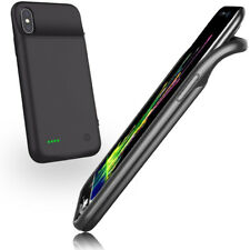 New! 5000mAh Power Bank Case For iPhone X Rubberized Grip Led Charge Indicator