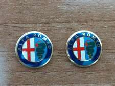Set of 2pcs  CLASSIC Alfa Romeo Key fob 15mm emblem badge logo insignia