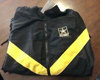 US Army APFU (Army Physical Fitness Uniform) Jacket Black & Gold - Medium Reg