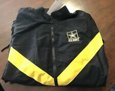 Us Army Apfu (Army Physical Fitness Uniform) Jacket Black & Gold - Large Reg