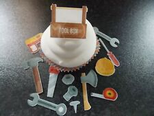 28 PRECUT edible Tools and Tool Box wafer/rice paper cake/cupcake toppers