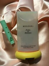 """BVLGARI """"PETITS ET MAMANS"""" LOTION WITH WHISTLE~~EMPTY~~CLEAN 6.7 FL OZ."""