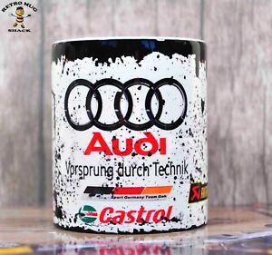 Premium Retro Audi Motor Racing Oil Can Mug Tea Coffee Mug