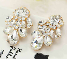 crystal s80 silver Earrings e467 Exquisite New gorgeous statement S&W Light