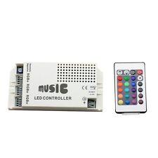 Music Audio Sound Driver RGB Strip Light LED Controller 12V 24V 9A IR Remote