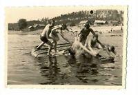 WW 2 Badevergnügen an der Beresina bei Borissow 1941