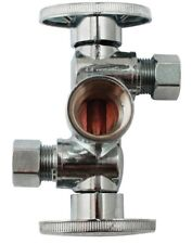 Keeney K2903Dhlf Three-Way Quarter Turn Dual Shut-Off Valve, 250 psi