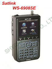 SATLINK WS-6908SE FTA Digital Satellite Finder Support KB-LIGHT & BACKLIGHT QPSK