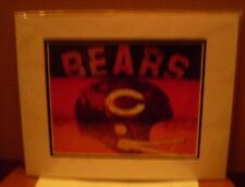 14 by 11 FRAMED PICTURE OF CHICAGO BEARS HELMUT