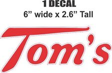 Tom's Toms Toasted Peanuts Cabinet Decal - Very Nice Die Cut To Shape Correctly