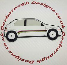 Peugeot 106 Rallye fridge magnets  White Phase 1