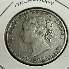 1898 NEWFOUNDLAND CANADA 50 CENTS STERLING SILVER BETTER GRADE COIN