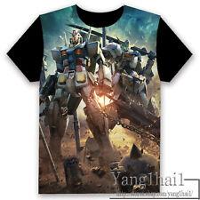 GUNDAM Anime Otaku Short Sleeve Unisex T-shirt Tops Cool S-XXXL Summer #P-245