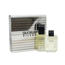 Quorum Silver Cologne for Men By Antonio Puig 2 Pc. Gift Set