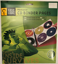 Case Logic ProSleeve CD Binder Pages Hold CD's w/Booklets DVD