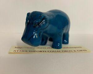 Egyptian Blue William the Hippo Standing Hippopotamus Figurine Art Replica