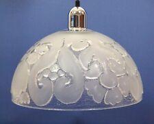 Peill & Putzler Pendel Lampe / Deckenlampe Eisglas Vintage 60er Jahre
