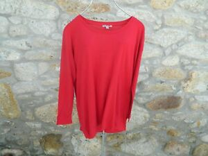 COS, RED long sleeved top in pure wool Size MEDIUM BNWoT
