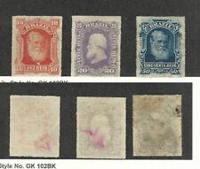 Brazil, Postage Stamp, #68-70 Mint No Gum, 1878