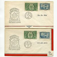 Canada 1942 Special Delivery Trois Rivieres  Two Cachet First Official Flight