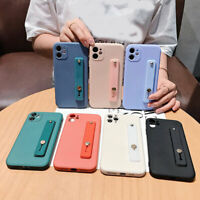 With Hand Strap Soft Silicone Phone Case Cover Skin Shell For iPhone 11 Pro Max