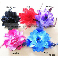 Cheap Flower Feather Bead Corsage Hair Clips Fascinator Hairband Womens Party
