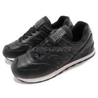 New Balance ML574LEK D Black White Leather Men Running Shoes Sneakers ML574LEKD