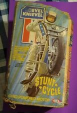 Vintage Evel Knievel Stunt Cycle Launcher 1970s Toy, Box Only Fair