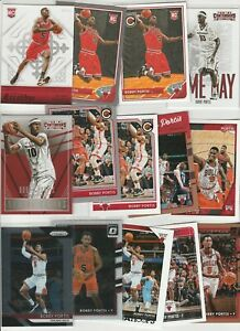 BOBBY PORTIS LOT (14) DIFFERENT W/ 5 2015-16 ROOKIES PARALLEL INSERTS RC