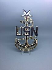 "Senior Chief Petty Officer (SCPO) 5"" Metal Plated Anchors"