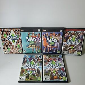 Lot of 6 The Sims 2 & 3  PC CD-Rom Game Expansion Pack