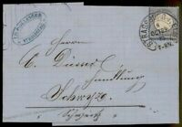 Germany 1873 Strassburg Hufeisen Horseshoe Cancel Cover Expertized 84976