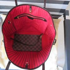 Louis Vuitton Neverfull MM Damier Ebene Tote Handbag Clutch Pochette