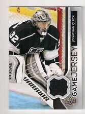 14/15 UD SERIES 1 JONATHAN QUICK  GAME USED BLACK JERSEY GJ-JQ * L.A.KINGS