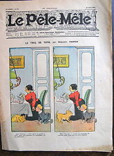 BENJAMIN RABIER, Le Pêle Mêle, journal humoristique hebdomadaire du 21 Aout 1904