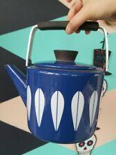 New ListingVintage Mcm Cathrineholm Norway Teapot Colbolt Blue Lotus Enamel Kettle