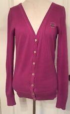 GAASTRA women's sweater Purple cotton V-neck Cardigan Nautical Supplies Medium