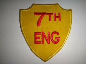 Vietnam Guerre Patch Usmc 7th Engineer Bataillon (1965-1971) 1st Marine Division