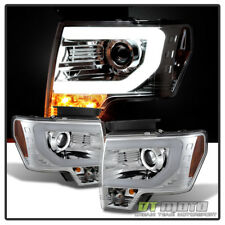 2009-2014 Ford F150 Frost LED Tube DRL [Raptor SVT] Projector Headlights Lamps