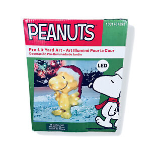 Peanuts Pre-Lit 18 inches Tall LED Outdoor Christmas Decoration Woodstock Yard