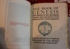FIRST BOOK OF MOSES CALLED GENESIS; ILLUS CAYLEY ROBINSON pub 1914