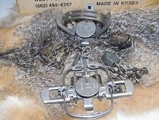 2  Duke #1 Coil Spring double jaw Traps Raccoon Mink Nutria Muskrat  Trapping