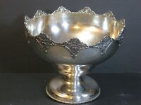 """Antique Homan Mfg/Richfield Co SilverPlate Repousse Serving Footed Bowl 8"""" Rare!"""